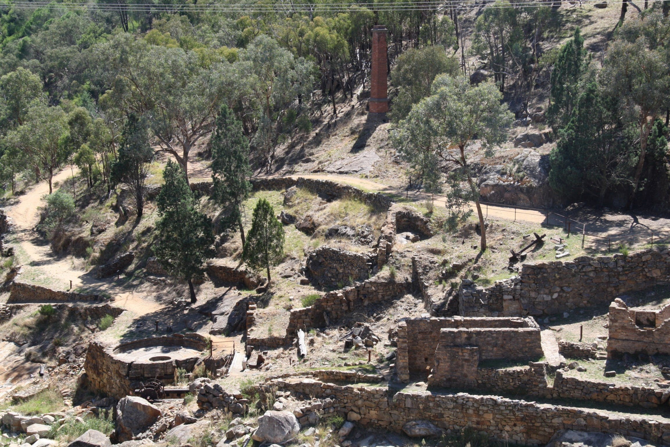 Adelong Falls Gold Mill Ruins - Accommodation Find